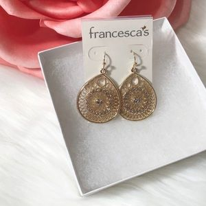 Francesca's Collections Jewelry - 3 Sets of Earrings NWT Rhinestones Triangle Drop